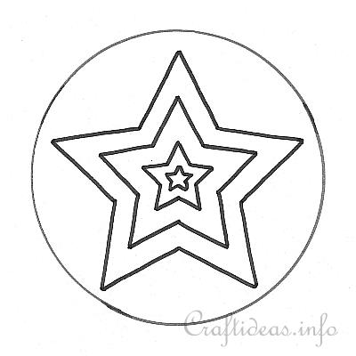 Star Template for Mosaic Star Window Cling Decoration – Star Template