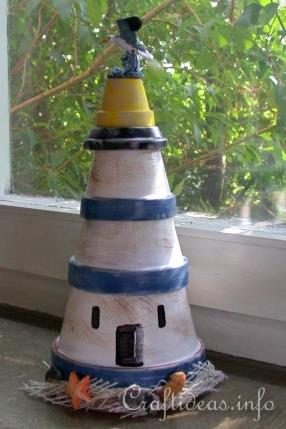 Free Craft Ideas For Kids Create A Clay Pot Lightouse