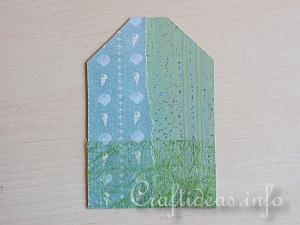 Summer Paper Craft - Gift Tag in Blue and Green - Tutorial 1