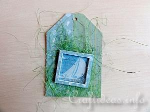 Summer Paper Craft - Gift Tag in Blue and Green - Tutorial 2