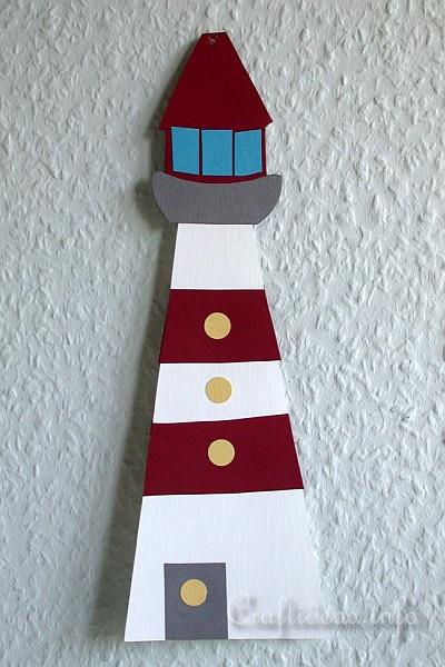 Paper Piecing Craft for Kids - Paper Lighthouse