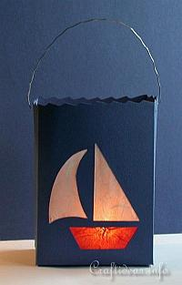 Summer Paper Craft - Sailboat Lantern