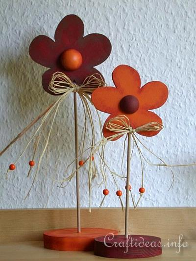 Summer Wood Craft Idea - Wooden Flowers Decoration