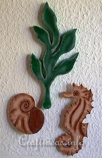 Summer Wood Craft Ideas - Maritime Dekoration with Seahorse, Seaweed and Seashell