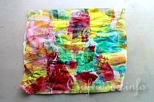 Swiping Paint onto Deli Paper 2