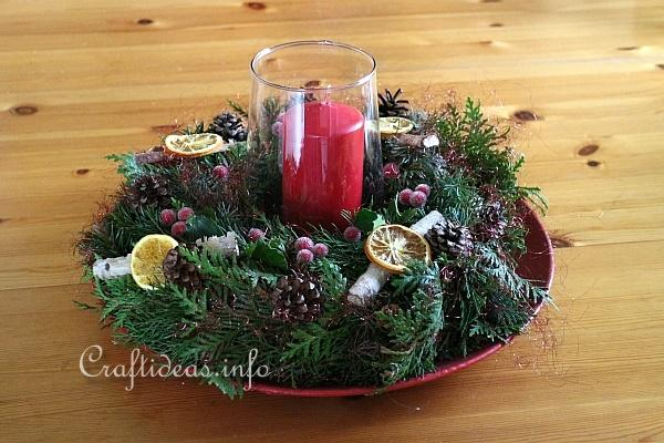 Table Wreath for Christmas