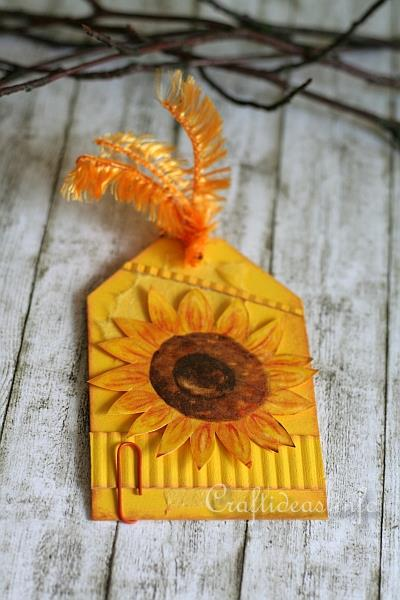 Tag Craft - All Occasion Gift Tag with Sunflower 2