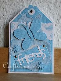 Tag Craft - Blue Friendship Tag for All Occasions