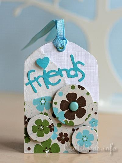 Tag Craft - Blue and White Friendship Tag for All Occasions