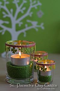 Tea Light Decorations for St. Patrick's Day