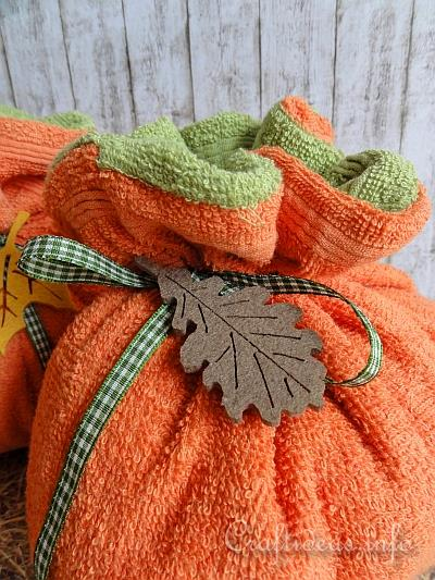 Autumn Textile Craft Project - Terry Cloth Pumpkins