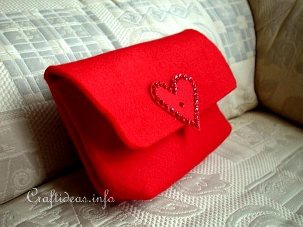 Textile Craft - Felt Red Clutch 1