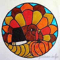 Thanksgiving Turkey Window Cling - Craftideas