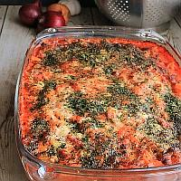 Three Cheese Pasta and Vegetables Bake