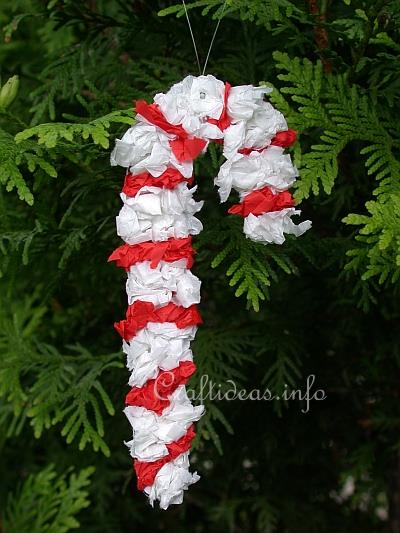 Free Christmas Craft For Kids Paper Candy Cane Ornament