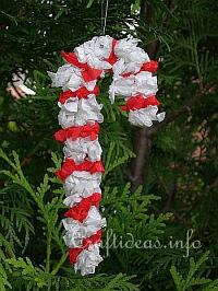 Tissue Paper Candy Cane
