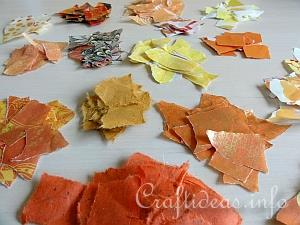 Torn Paper for Decopage Pumpkins
