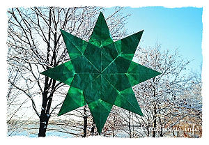 Transparent Paper Star Window Decoration