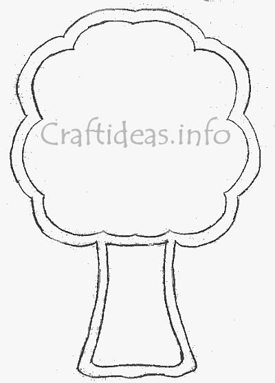 Tree Template for Window Decoration