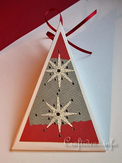 Holiday Crafts Christmas Craft Triangle Gift Box