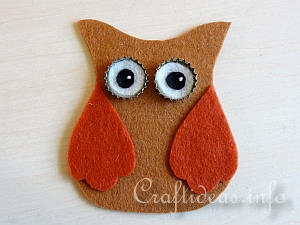 Tutorial - Felt Owl Ornaments 5