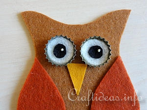 Tutorial - Felt Owl Ornaments 6