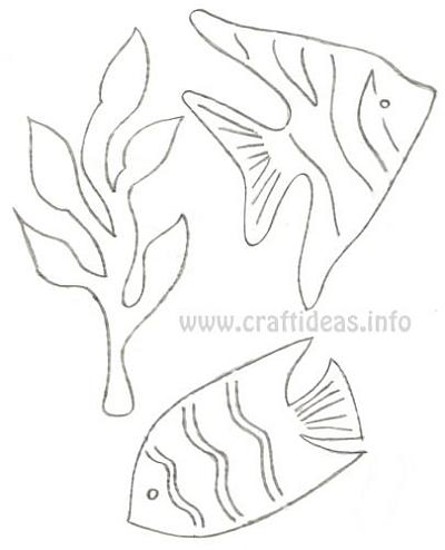Fish outline coloring page