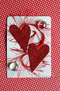 Valentine's Day ATC - Hearts and Glass Nuggets
