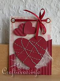 Valentine's Day ATC - Red Hearts Artist Trading Card