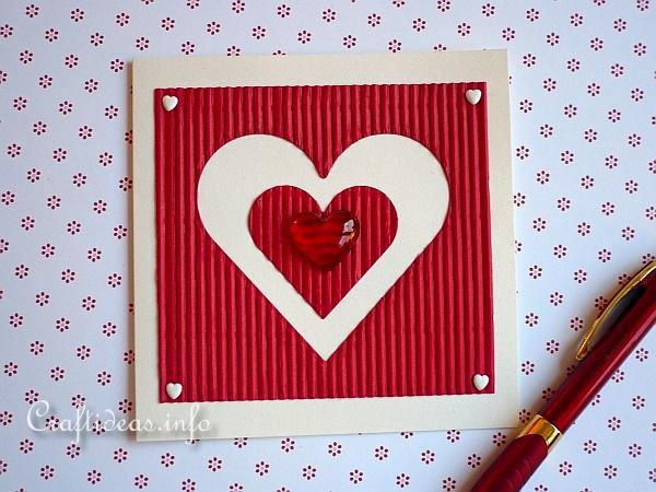 Valentine's Day Card - Large Heart Motif 2