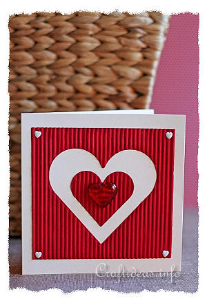 Valentine's Day Card - Large Heart Motif