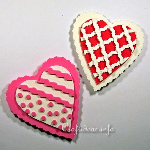 Valentine S Day Craft For Kids Fun Foam Heart Refrigerator Magnets