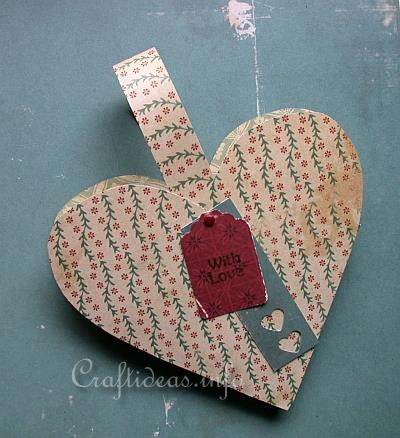 Valentine's Day Paper Craft - Heart Shaped Holder with Handles