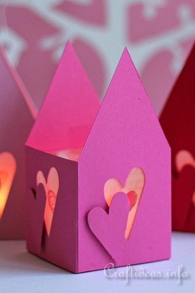Valentine's Day Paper Tea Light House 3