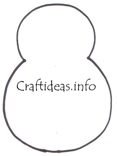 Snowman Template Christmas craft - washcloth snowman template