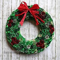 Quilled Paper Christmas Wreath