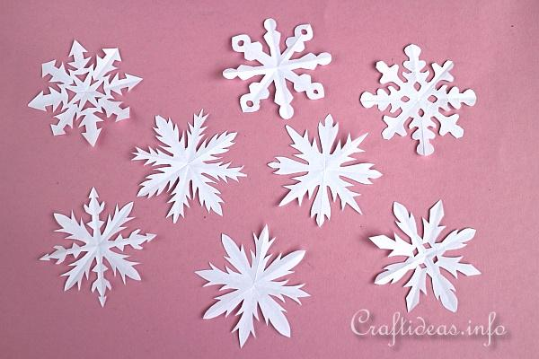 how to make paper snowflakes for kids