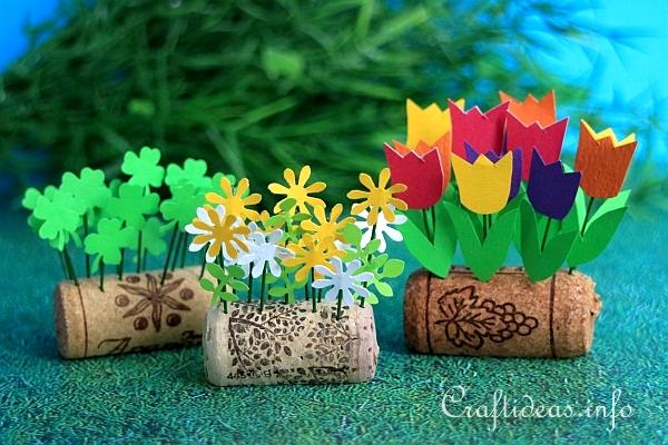 Wine cork upcycling mini spring flower beds wine cork upcycling mini flower beds mightylinksfo
