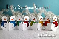 Winter Craft - Paper Snowman Garland