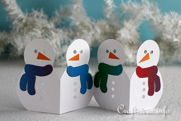 Christmas Or Winter Craft Paper Snowman Garland