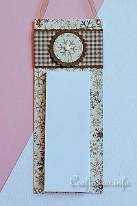 Winter Memo Pad Holder for the Wall