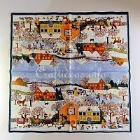 Winter Scene Paper Napkin
