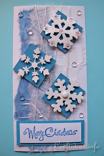 Christmas Crafts - Christmas Cards - Winter Snowflakes Christmas Card
