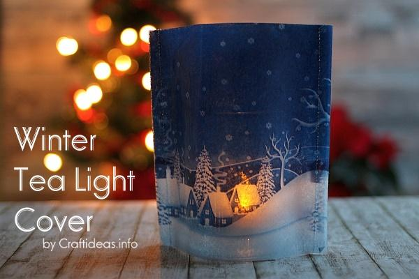 Winter Tea Light Cover