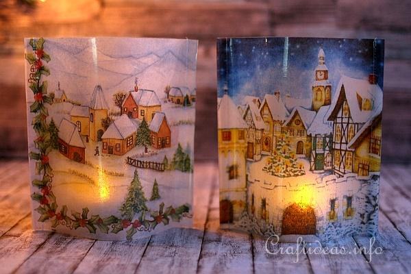 Winter Villages Tea Light Covers