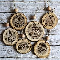 free wood crafts for christmas and winter - Wooden Christmas Crafts