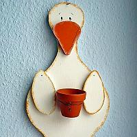 Wood Craft - Goose Plant Holder