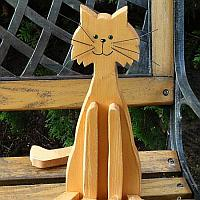 Wood Craft - Sitting Cat