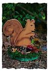 Wood Craft for Autumn - Wooden Squirrel Shelf Decoration 100N