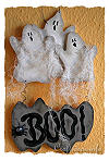 Wood Craft for Halloween - Wooden Ghosts Door Sign for Halloween